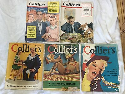 Lot of 5 Collier's Magazines 1939 - 1953