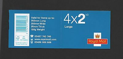 Gb 2014  4 X 2Nd Class Large Stamps Change Of Phone Number Stamp Booklet