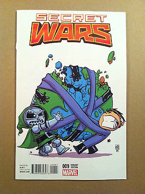 Secret Wars (2015) #9 Skottie Young Variant Cover Nm 1St Printing
