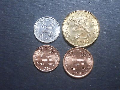 3380 - Finland - Four Different Coins