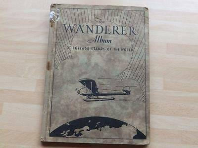 (3487) World Stamp Collection In Old Wanderer Album