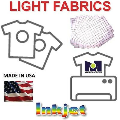 Inkjet Heat Transfer Paper iron on heat press machine light color tshirts (50)