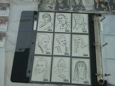 Xena the  warrior princess art and images  folder plus signed trading cards
