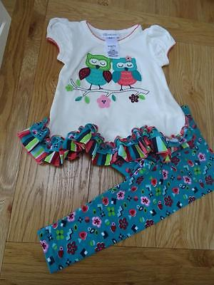 BONNIE JEAN baby girls 2 piece tunic top & leggings set AGE 12-18 MONTHS NEW
