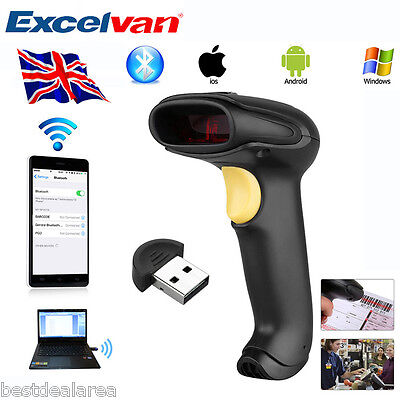 Wireless Bluetooth Barcode USB Laser Scanner Code Reader For IOS/Android/Windows