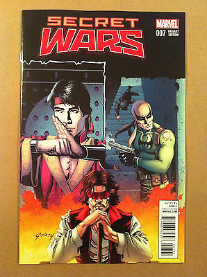 "Secret Wars (2015) #7 Paul Gulacy 1:25 ""classic"" Variant Nm 1St Print Iron Fist"