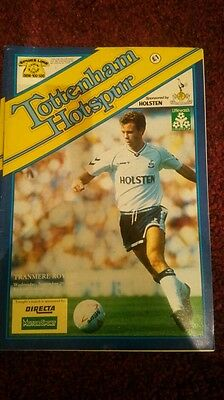 Tottenham Hotspur v Tranmere Rovers Littlewoods cup 1989