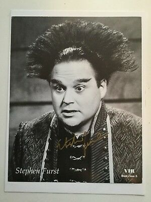 Babylon 5 Steven Furst signed 8x10 photo w/COA