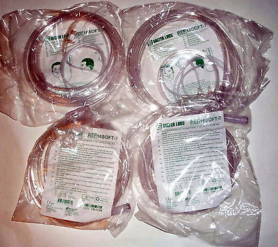 Lot 4 Salter Labs REF 16SOFT-7 Nasal Cannula Adult 7' 2.1m Oxygen Supply Tubes