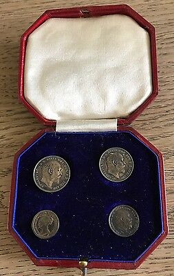 Silver Maundy Coins 4 In A Original Box