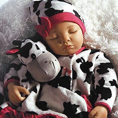 Paradise Galleries Lifelike & Realistic Newborn Baby Doll - Over The Moooon