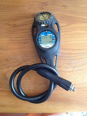 Scuba Diving Uwatec Console With Digital Depth Timer