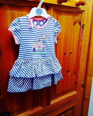 BNWT Marks & Spencers Appliqué Dress 6-9 months baby girl - NEW
