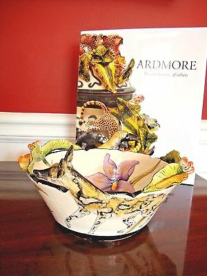 NWT $1.2K ARDMORE CERAMIC BOWL Wild Dog Jackal, FINE CERAMIC ART, Original SALE
