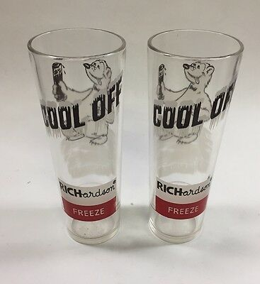 Vintage Richardson Glass Freeze Polar Bear Cool Off Bar Barware Vintage Retro