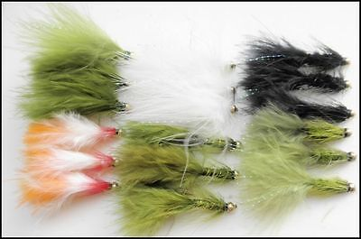 Gold Head Lures, Trout Flies, Size 10, Mixed Pack, Budgies, Cats, Damsels & More