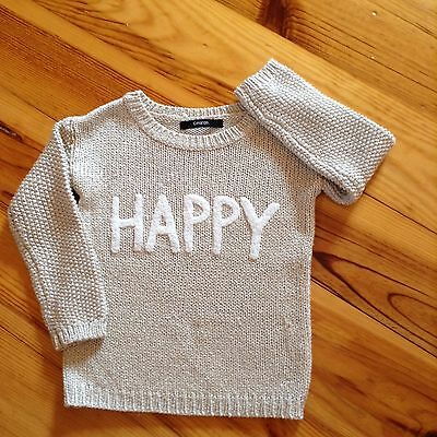 'Happy'  jumper 3-4 year old girl vgc