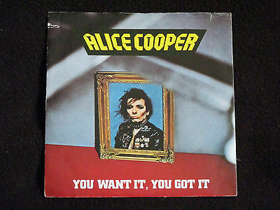 "Alice Cooper - You Want It,you Got It 7"" - 1981 Italy - W 17846"