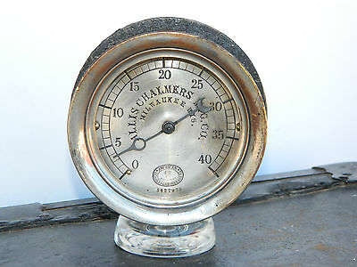 Original Small Allis Chalmers Schaeffer Budenberg Corliss Steam Engine Gauge