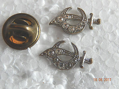 2 Shriners Cresent and Sword Pins
