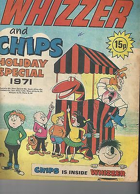 Whizzer & Chips Holiday Special 1971 RARE  Nice Copy Beano Dandy Buster Cor