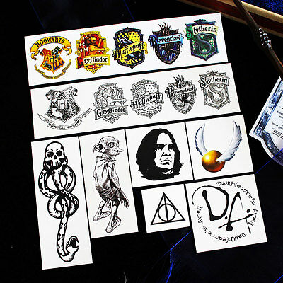 Hot Harry Potter Patterns Temporary Tattoo Vogue Painted Stickers Waterproof Set