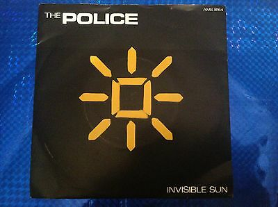 "The Police 7"" Vinyl Single "" Invisible Sun "" Shamelle "" 1981 Pic Sleeve  Sting"