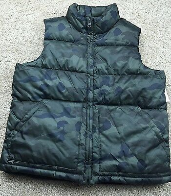 NWT OLD NAVY Boys Puffer Vest Camo Size 8 Medium M