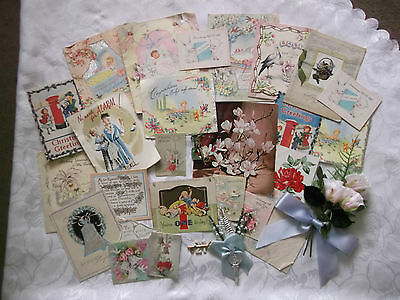 VINTAGE JOB LOT USED 50's  60's GREETING CARDS