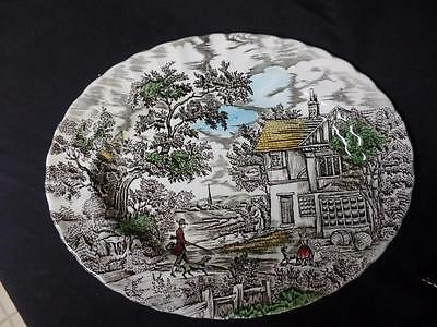 "Myott England ""The Hunter"" Multi Colored 12 1/2""  Serving Platter -Myott Platter"