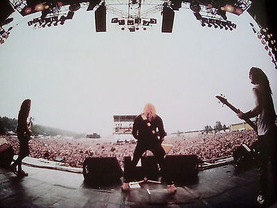 """Metallica Monsters of Rock 1987 Germany 10x9"""" Picture to Frame? from 2015 Book"""