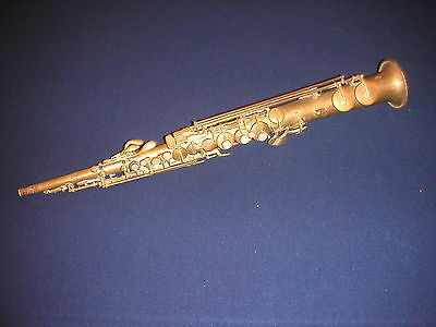 C.1927 VINTAGE C.G. CONN Bb SOPRANO SAXOPHONE - CHU BERRY - FOR RESTORATION
