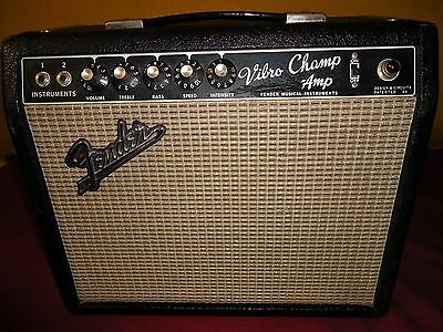 1965 FENDER VIBRO CHAMP AMPLIFIER PERFECT WORKING CONDITION USA Vintage