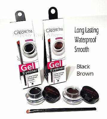 Waterproof Gel Eyeliner Beauty Creations Black/ Brown Gel Eye Liner- Long Lasing
