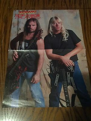 Slayer 1990's Double Page Poster & Ozzy Osbourne Band on reverse