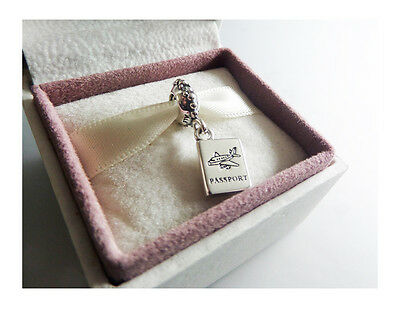 GENUINE PANDORA SILVER PASSPORT PENDANT CHARM with gift pouch