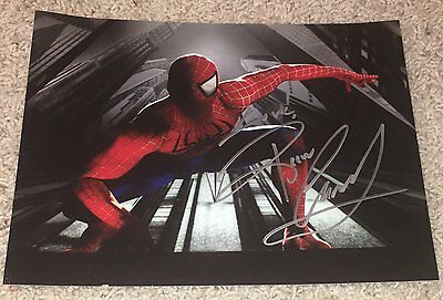 REEVE CARNEY SIGNED AUTOGRAPH SPIDER-MAN TURN OFF THE DARK 8x10 PHOTO C w/PROOF