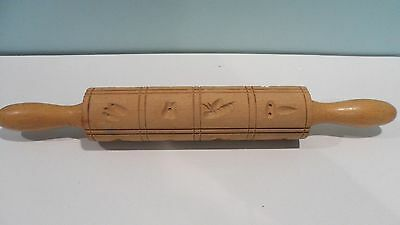 "Springerle Cookie Rolling Pin 15"" Long with 16 Designs"