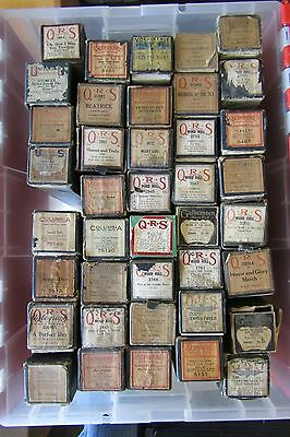 Lot of 40 Player Piano Music Word Rolls: QRS, Supertone, Columbia, etc.