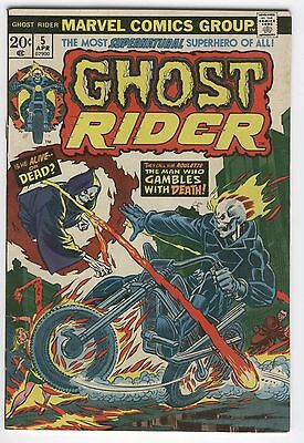 Ghost Rider #5 Is He Alive Or Dead? Mooney Kane Bronze Age Classic