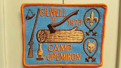 Gilwell II 1973 Camp Opemikon Boy Scout Patch.