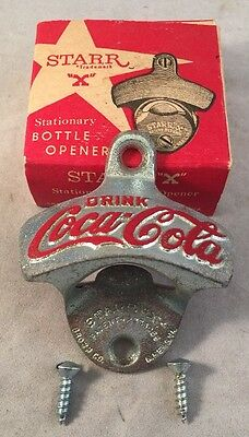 Vintage Star X Coca Cola Stationary Bottle Opener W/Original Box! - Coke