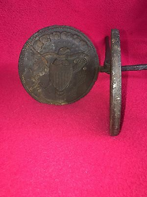 Antique Cast Iron Seal Of The U. S. Eagle Wafer Iron Ca. 1790's Political