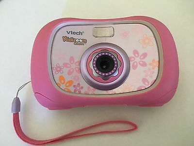 Vtech 1069 Kidizoom Kids Digital Toy Camera With Flash Pink Color with Strap