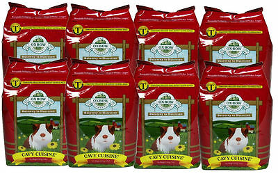 Oxbow Cavy Cuisine ADULT Guinea Pig (Timothy Based) 5 lb Bag 8 PACK