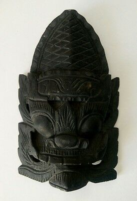 WOODEN Rare Collectable Mask - Hand carved, 157 x 101 x 34 mm