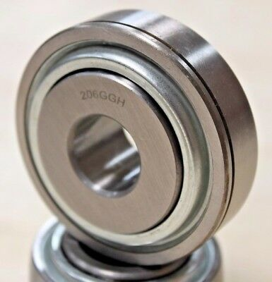 2x 206KPP16 206GGH 0.756in Round Bore Ag Bearing 7012998 0.756in x 62mm OD NEW
