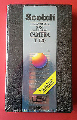 SCOTCH EXG (Extra High Grade) Camera T-120 Videocassette VHS Blank TAPE