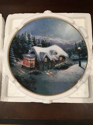 "Thomas Kinkade Plate ""Silent Night"""