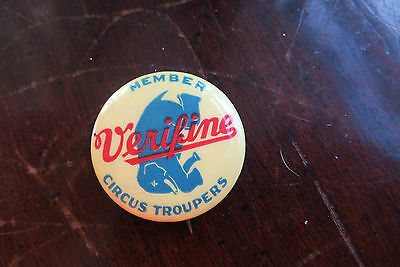 Verifine Circus Troupers Member, advertising pin, dairy, elephant